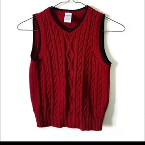 Gymboree red cable knit sweater vest